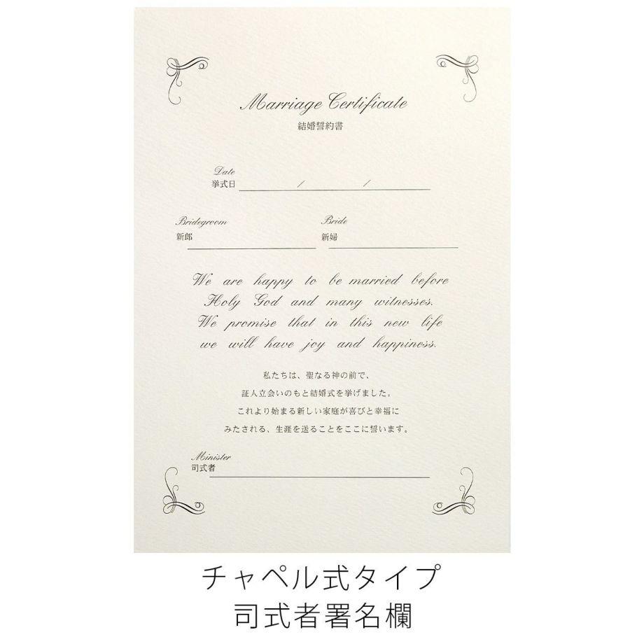 結婚証明書ベローチェ司式者署名欄