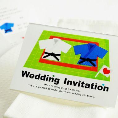 柔道をテーマにデザインした結婚式アイテム