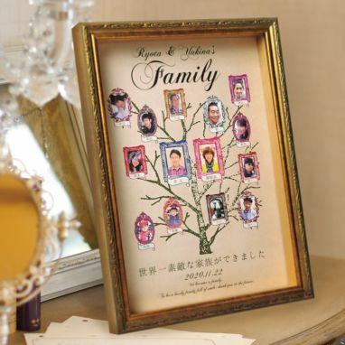家系図の感謝状ファミリーツリー