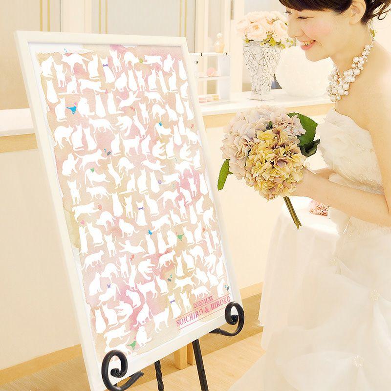 結婚式・二次会パーティーで大活躍のゲスト参加型演出、寄せ書きメッセージウェルカムボード