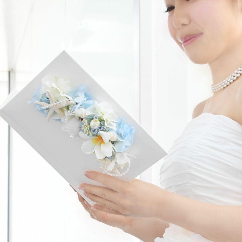 感謝の手紙を読む感動のシーンを引き立てる花嫁の手紙、花婿さんにもお使いいただけます