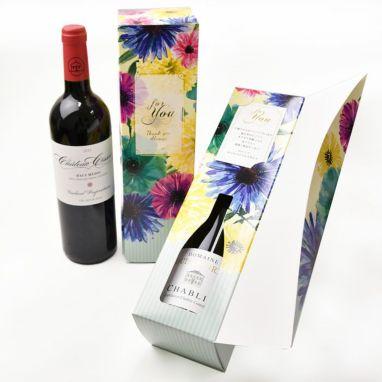 おしゃれなボックスに入れたワイン(白or赤)