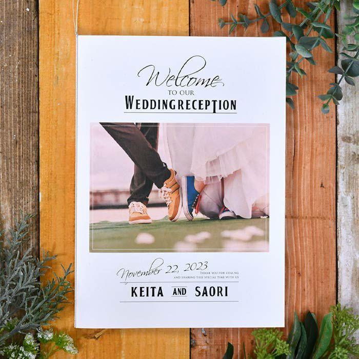 受付で配布する席次表を冊子タイプにした写真で魅せるプロフィールブック