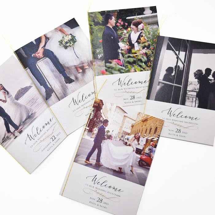 シンプルで上品なデザインがお好みのお二人にぴったりのスタイリッシュなプロフィールブック