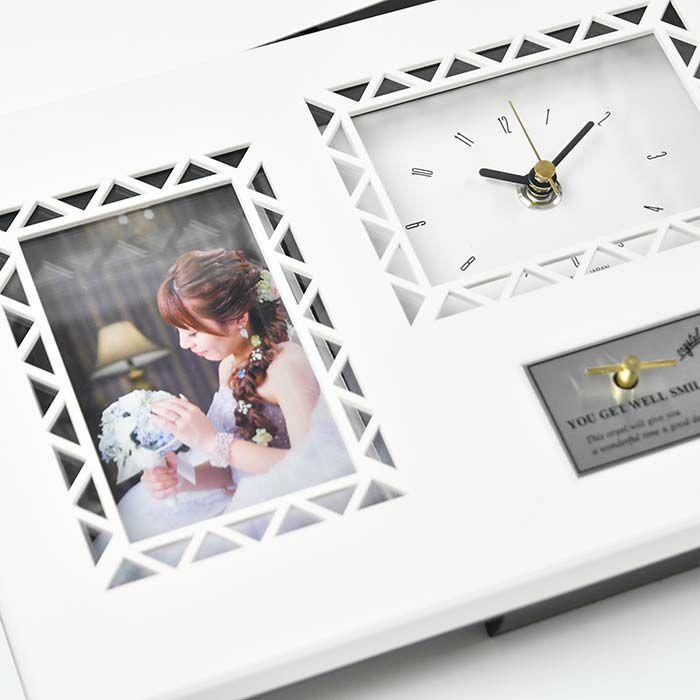 左側のメッセージの部分は式後、当日のお写真に入れ替えてフォトフレームとして飾っていただくこともできます。