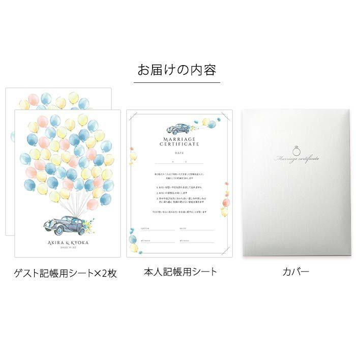 ゲスト参加型結婚証明書お届けの内容