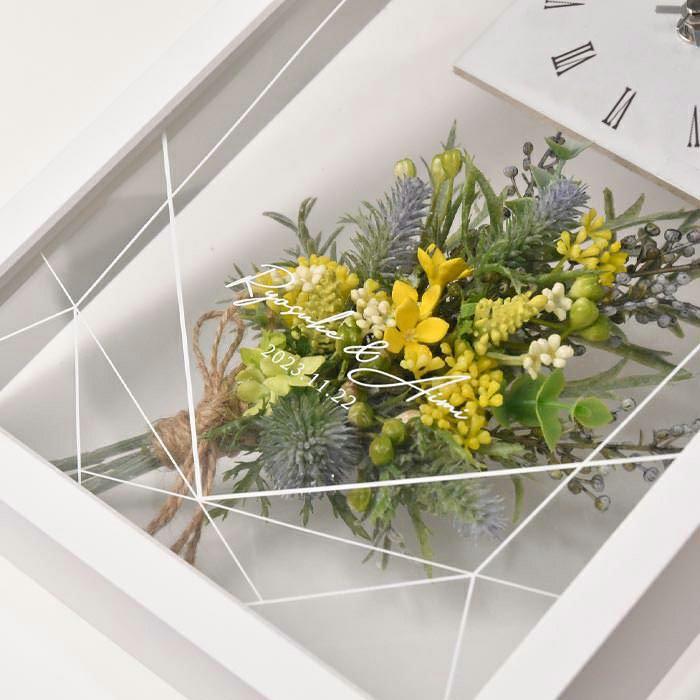 ブーケで使用しているお花は美しく高品質なアーティフィシャルフラワー