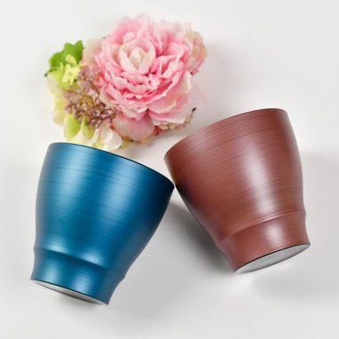 温冷どちらでも使えるフリーカップとアーティフィシャルフラワーのセット