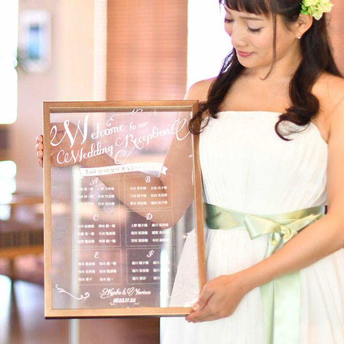 少人数婚や海外挙式におすすめ海外風のシーティングチャート