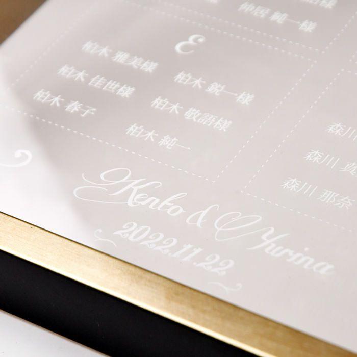 文字部分は透明フィルムに白印刷を施し透明に映える白文字が可愛い