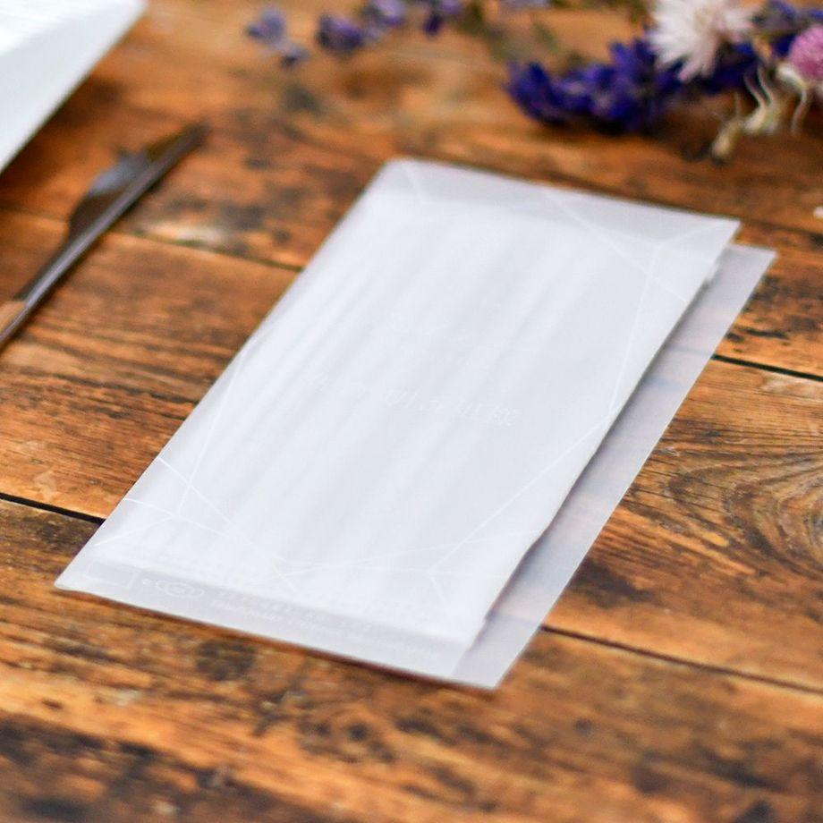 結婚式でマストアイテムの席札。その「席札」と「マスク置き」が一緒になったアイデア商品