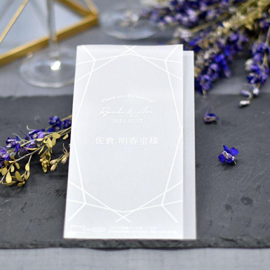 withコロナで開催する結婚式でゲストのおもてなしの一つとして、オシャレなマスクキーパー(マスク置き)席札