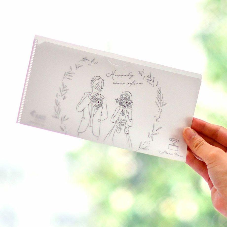 結婚式専用 抗菌 Ag+マスクケース「WEDDING」