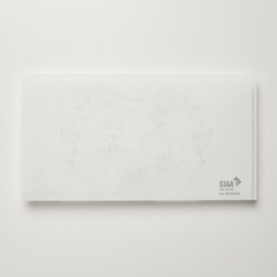 結婚式専用抗菌マスクケースの背面