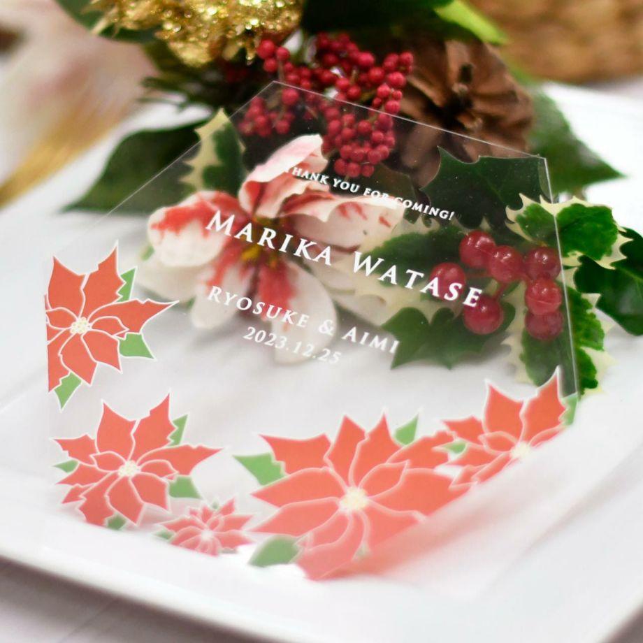 ゲストの名前入りで結婚式の席札としても使えるフェイスシールド