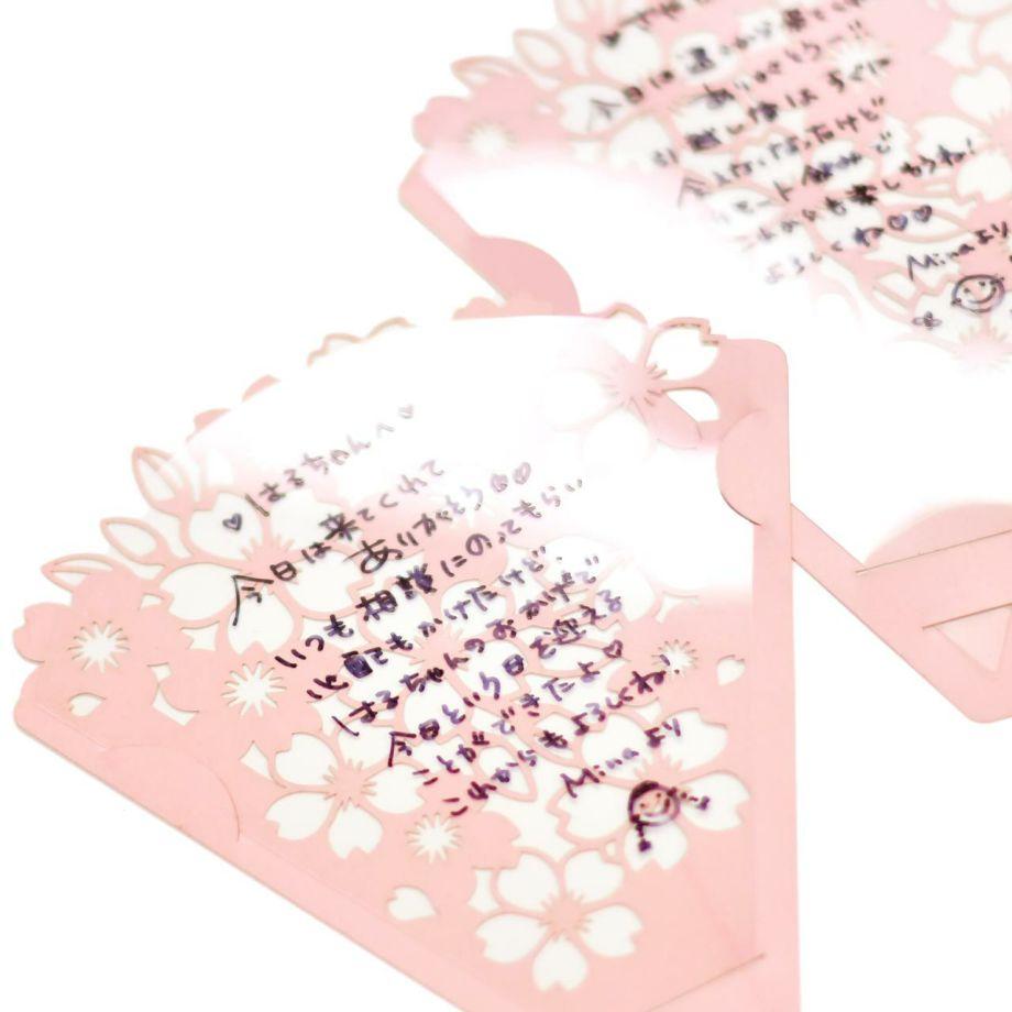 フィルムの部分に油性ペンでメッセージを書けば、ゲスト一人一人への想いを伝えるメッセージカードとしても使えます