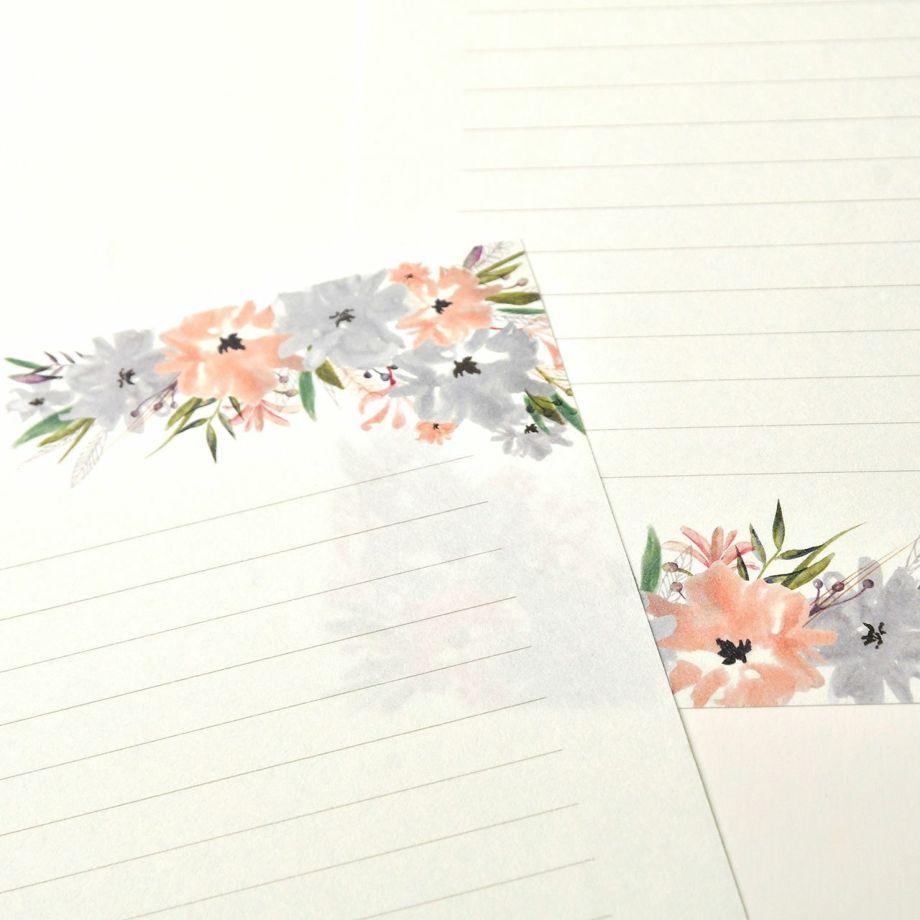 上品でシンプル様々なスタイルのウェディングにマッチする花嫁の手紙抗菌レターセット