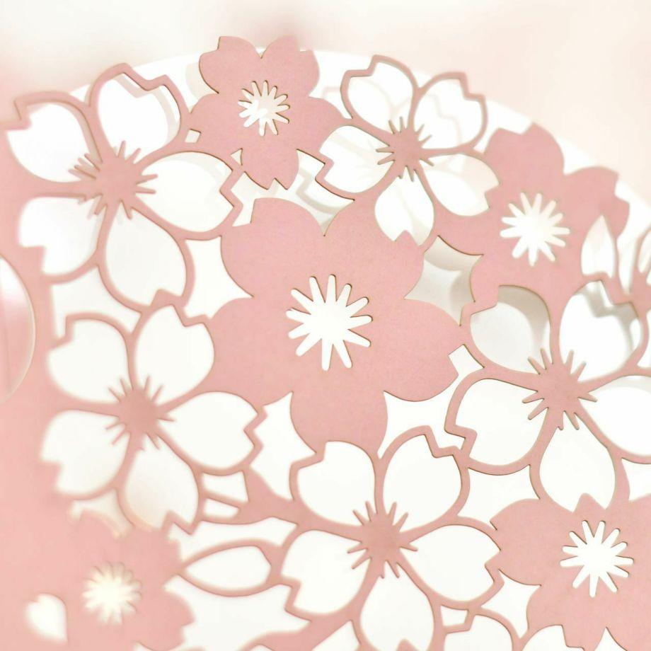 春婚にぴったりの美しい桜のカットデザイン