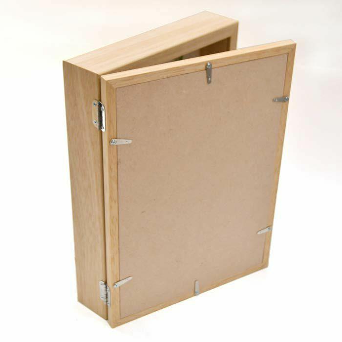 木製子育て感謝状ボックスフレームの背面