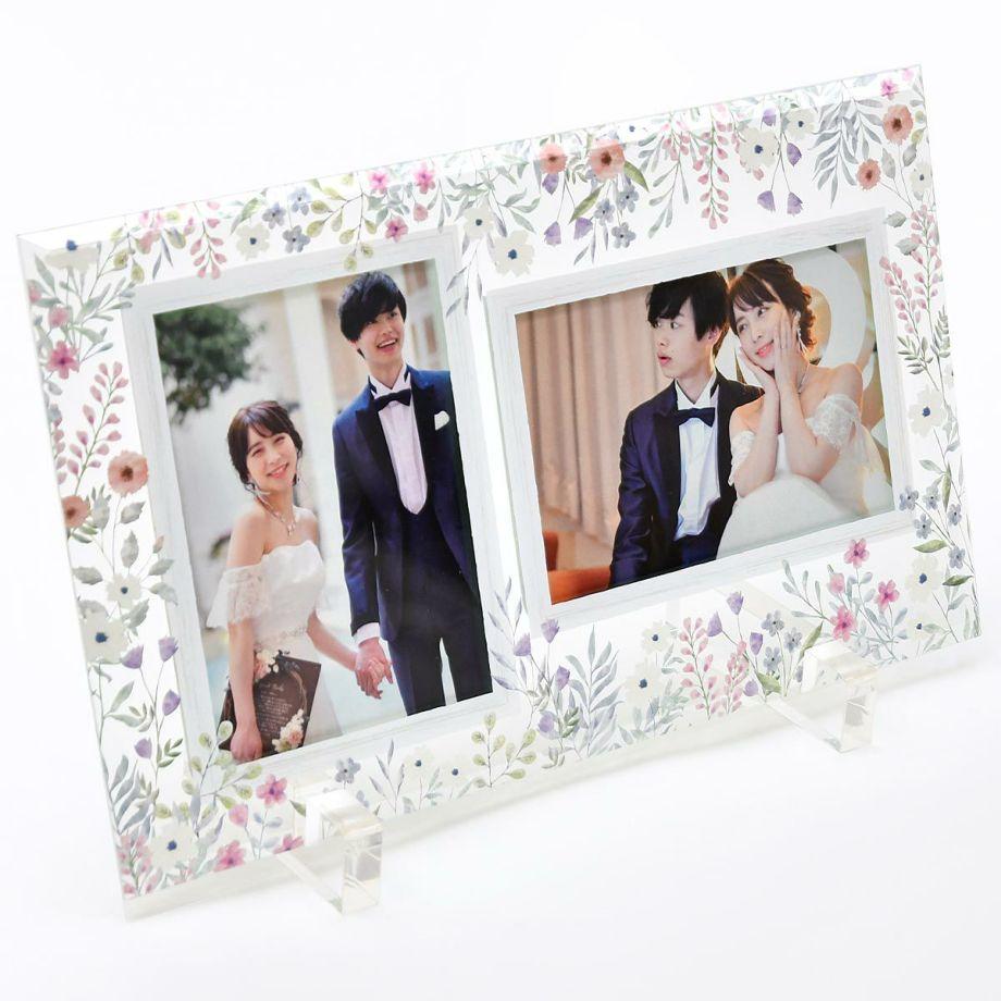 結婚式の記念品をインテリアとしておしゃれに飾れるフォトフレームの両親贈呈品