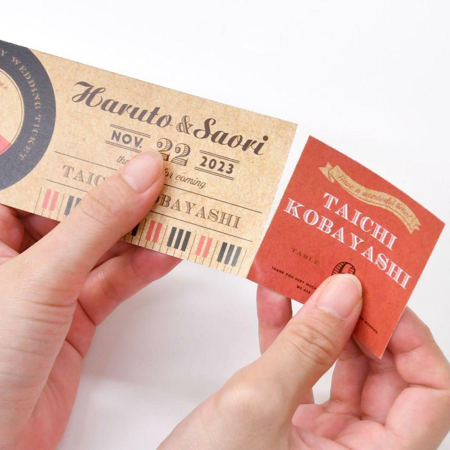 ファルベで発注できるチケット風エスコートカード