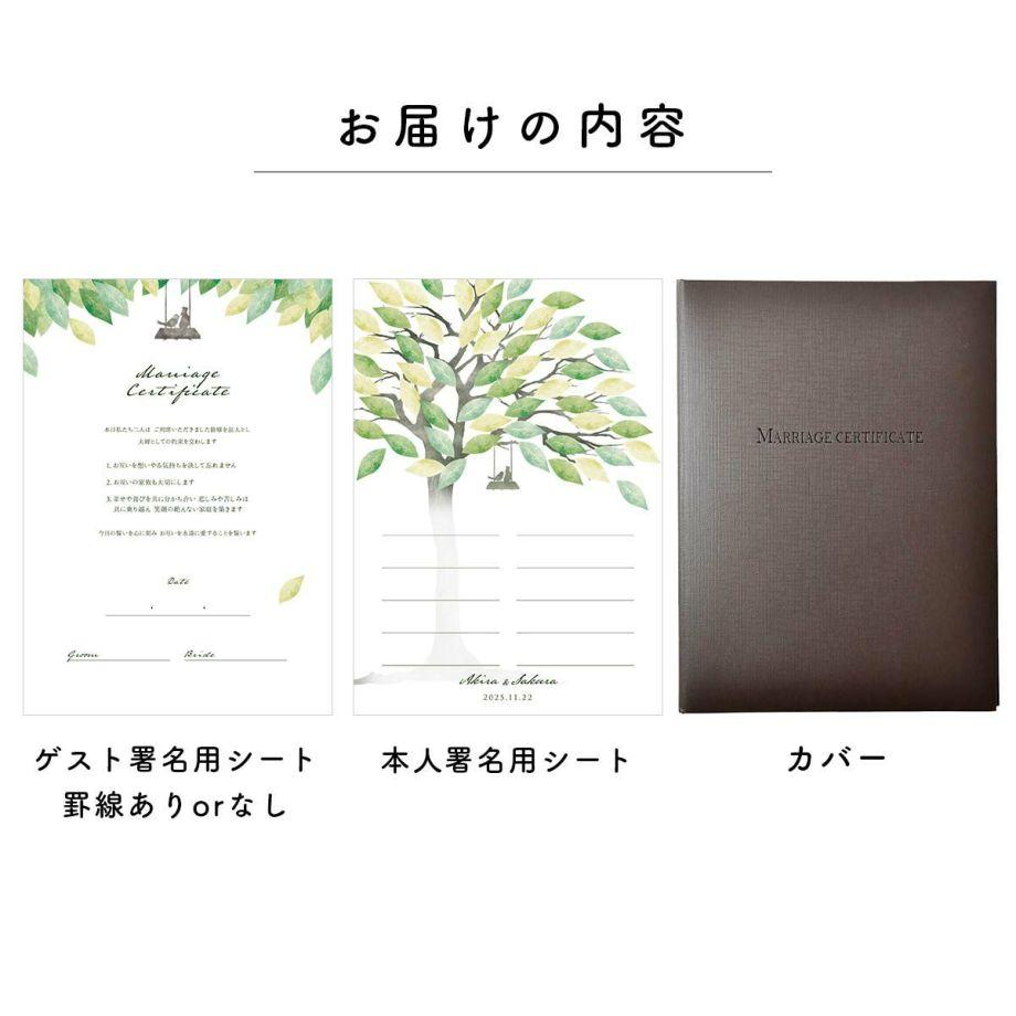 少人数専用ゲスト参加型結婚証明書お届けの内容