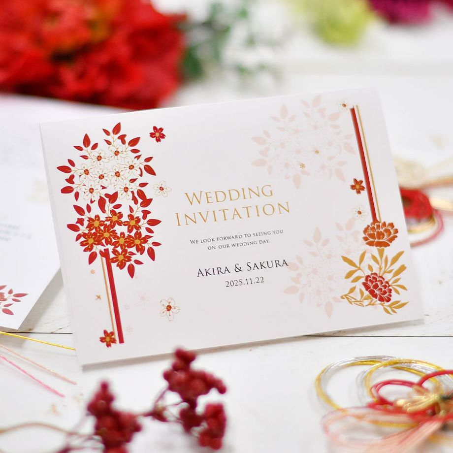少人数婚や家族婚のための印刷付き招待状